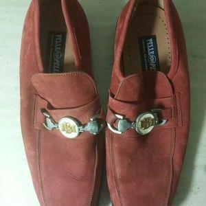 Pelle pelle vintage 9.5 men's shoes orange rust
